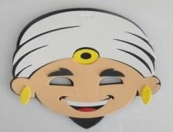 Máscara Infantil Aladim em EVA