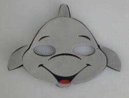 Máscara Infantil Golfinho em EVA