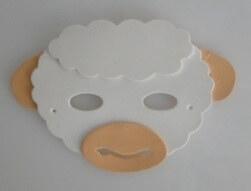 Máscara Infantil Ovelha em EVA