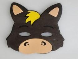 Máscara Infantil Burrinho em EVA