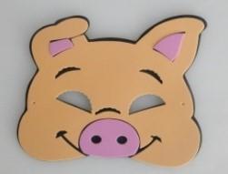 Máscara Infantil Porquinho Da Índia em EVA