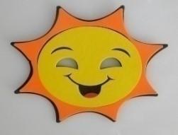 Máscara Infantil Solzinho em EVA