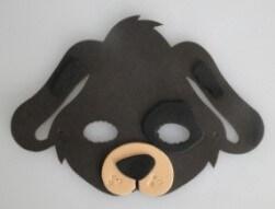 Máscara Infantil Cachorrinho em EVA