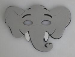 Máscara Infantil Elefante em EVA