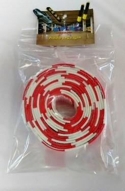 Fita Adesiva Zebrada Vermelha e Branca