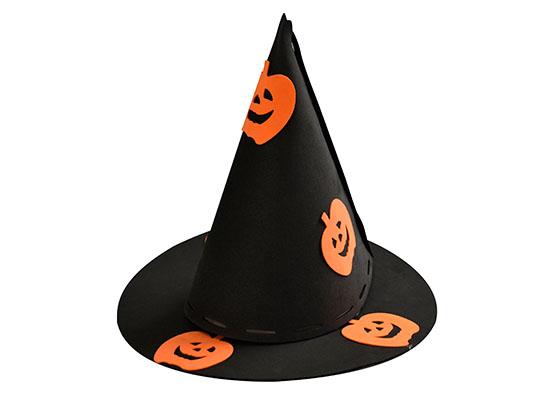 Chapéu de Bruxa Preto Abobora