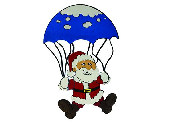 Papai Noel Com Paraquedas